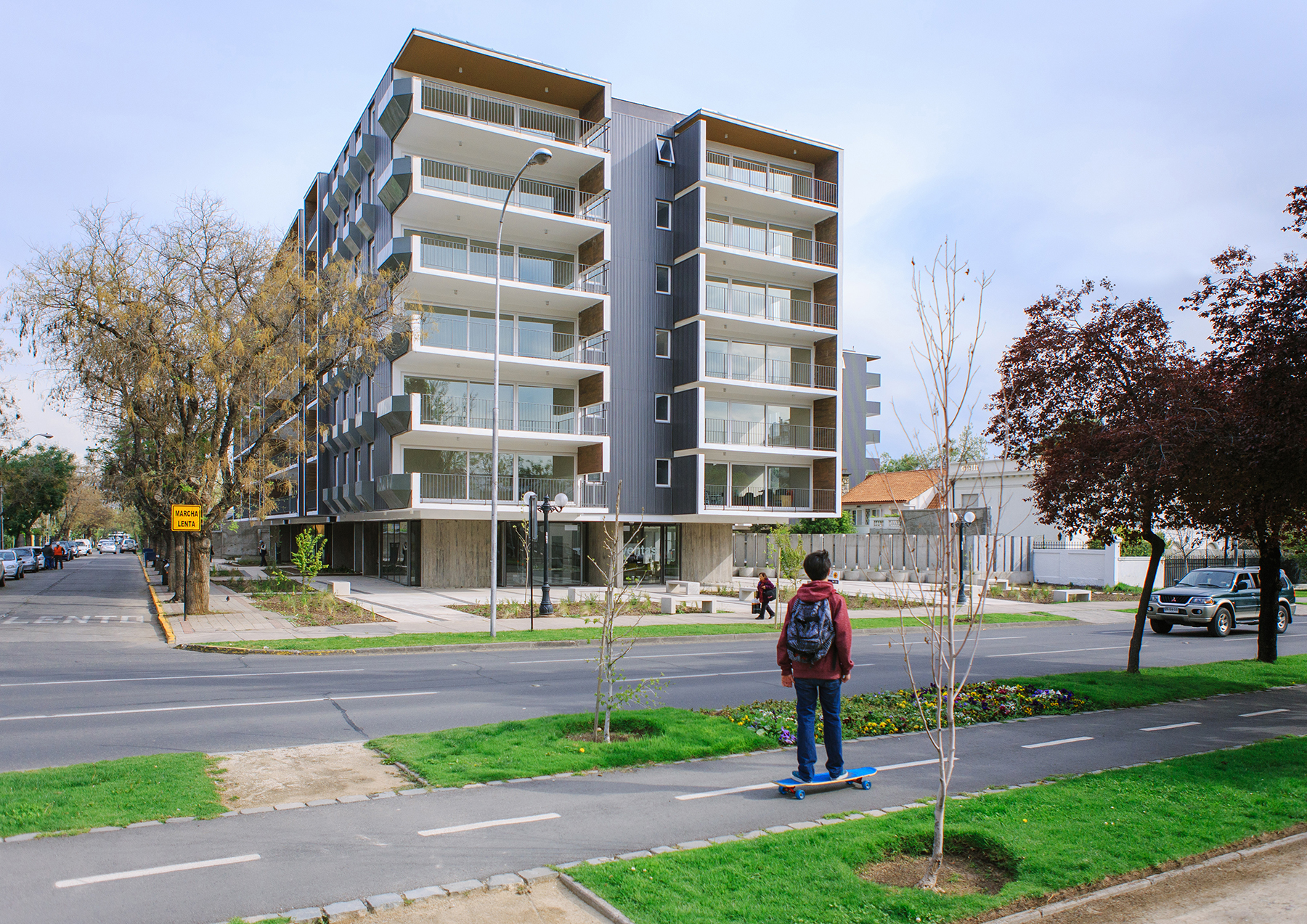 Quadrolines 30x15 - Fachadas - Paneles Single Skin - Edificio Pocuro